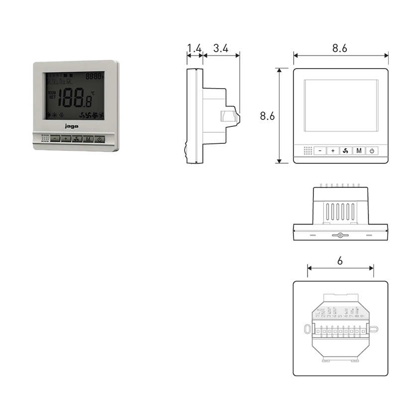 Termostato JRT100